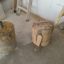 betonfúrás légtechnikai csőnek